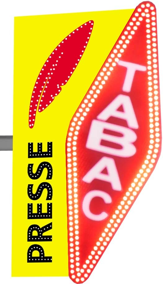 Carotte Tabac et Presse à LED